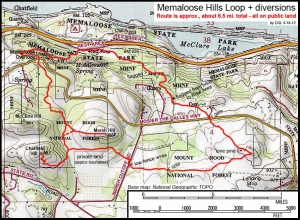 memaloose-hills-loop-map